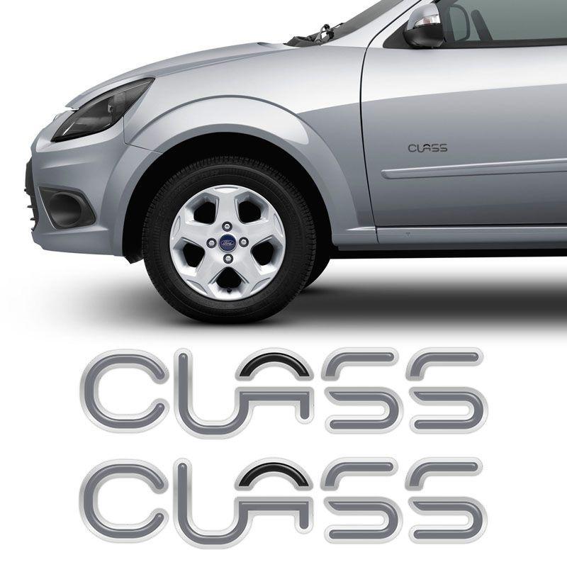 Par De Emblemas Class Ford Ka Fiesta 2003 Adesivo Resinado