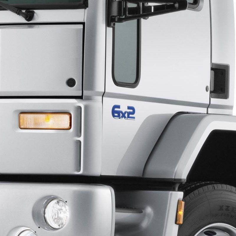 Par De Emblemas Ford Cargo 6x2 Adesivo Resinado Caminhão