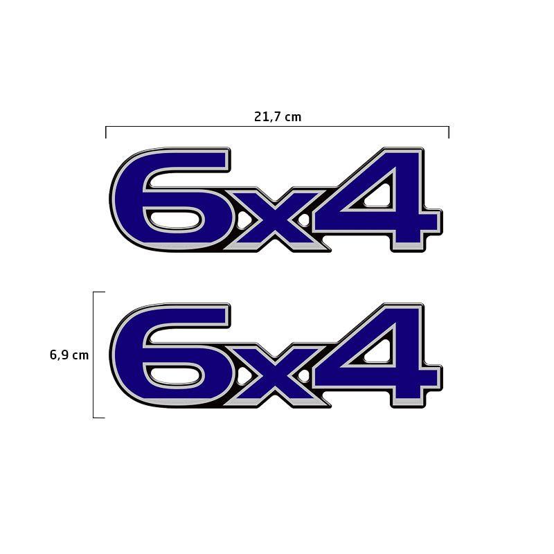 Par De Emblemas Ford Cargo 6x4 Adesivo Resinado Caminhão