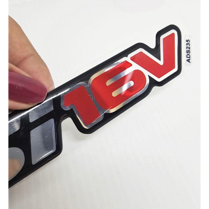 Par de Emblemas Gsi 16v Astra Adesivos Cromado Resinado