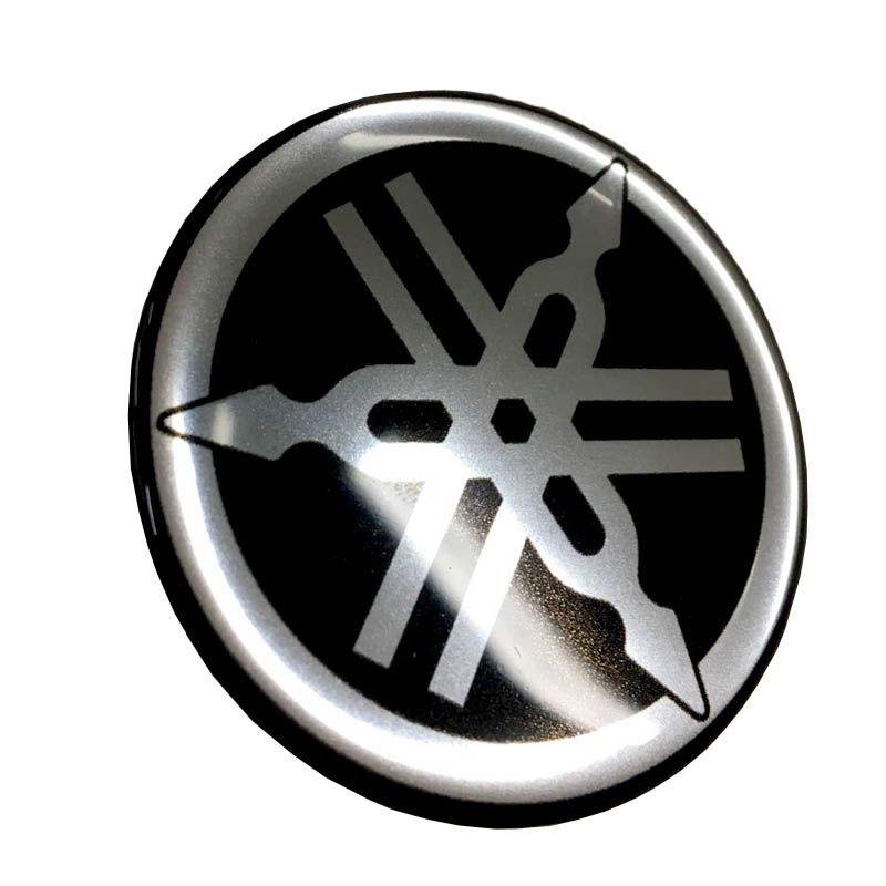 Par De Emblemas Logo Yamaha Moto Tanque 45mm Resinado