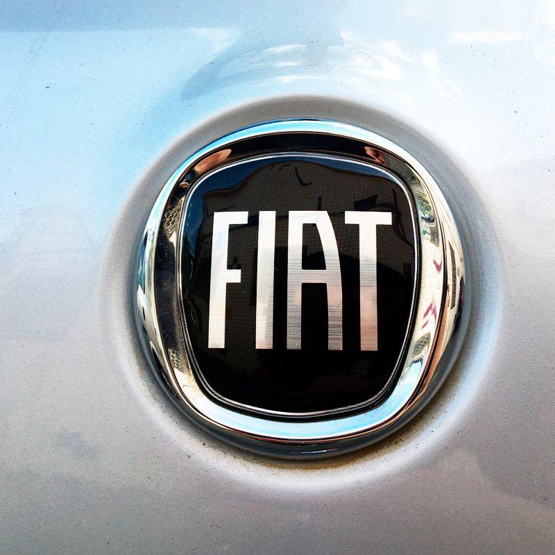 Par De Emblemas Maçaneta Fiat 500 Adesivos Black Piano