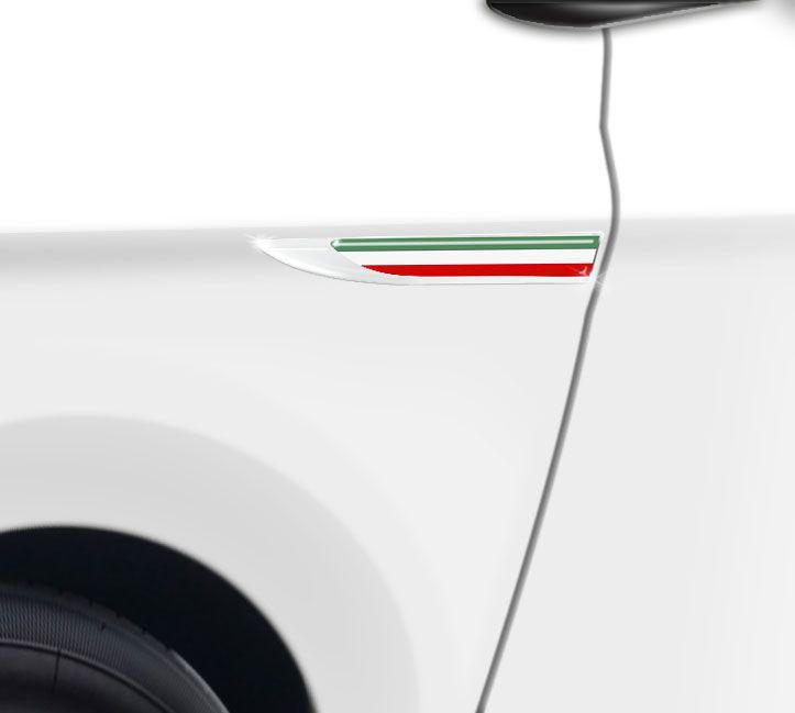 Par De Protetores Paralama Bandeira Itália Aplique Resinado
