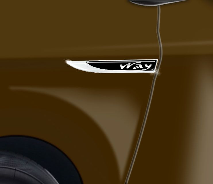 Par De Protetores Paralama Fiat Way Black Aplique Resinado