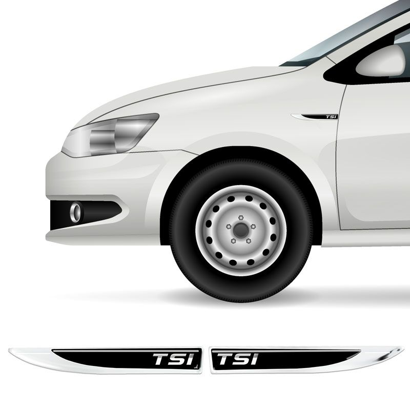 Par De Protetores Paralama Tsi Volkswagen Black Resinado