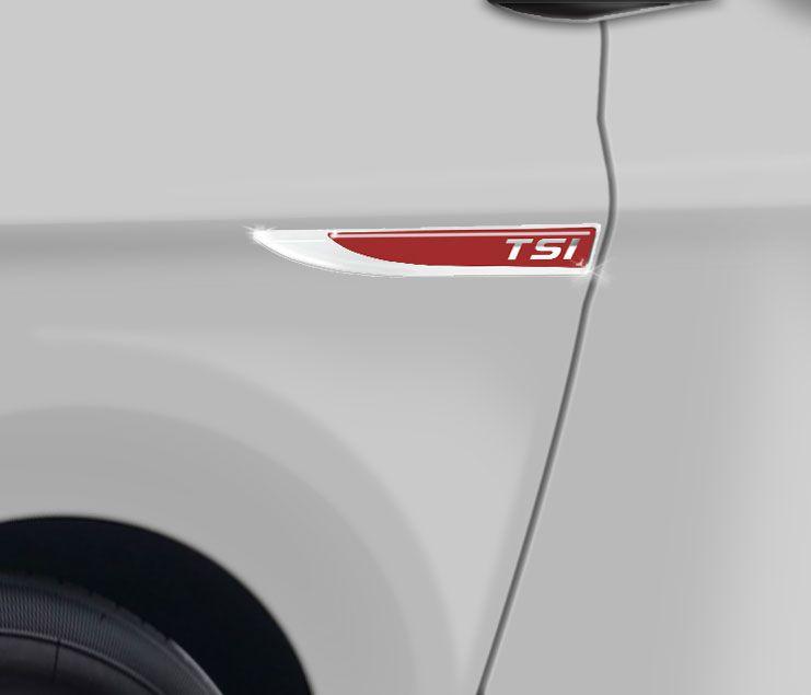 Par De Protetores Paralama Tsi Volkswagen Vermelho Resinado