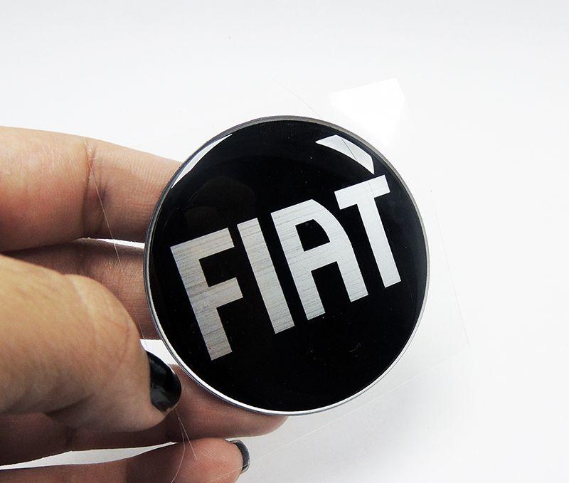 Par Emblemas Fiat Strada Adesivos Resinados /05 Black Piano