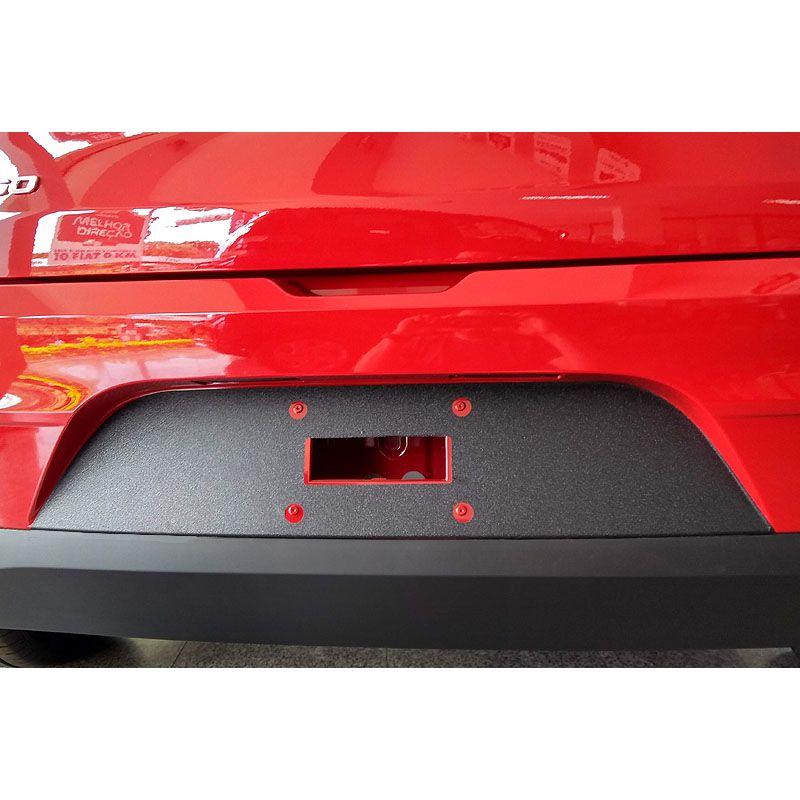 Protetor Traseiro Fundo De Placa Fiat Argo 2018 Adesivo Black