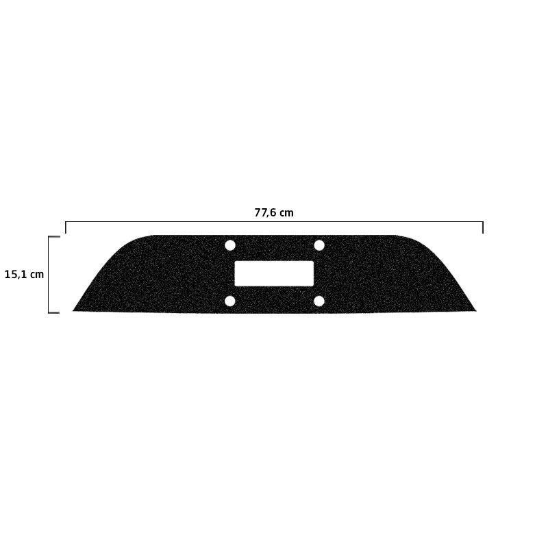 Protetor Traseiro Fundo De Placa Fiat Argo 18 Adesivo Black