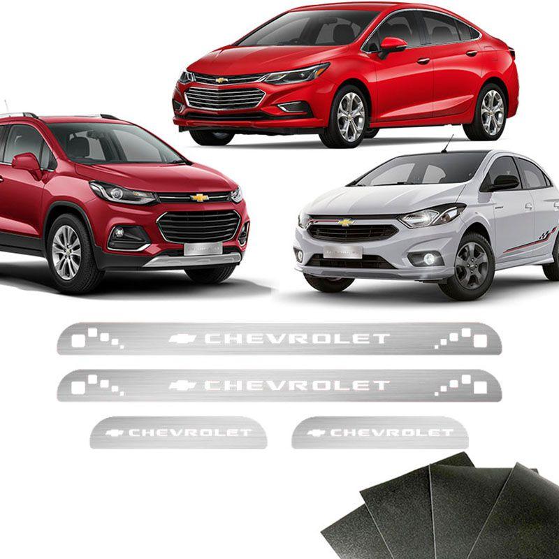 Soleira Chevrolet Onix Prisma Spin Cruze E Protetor De Porta