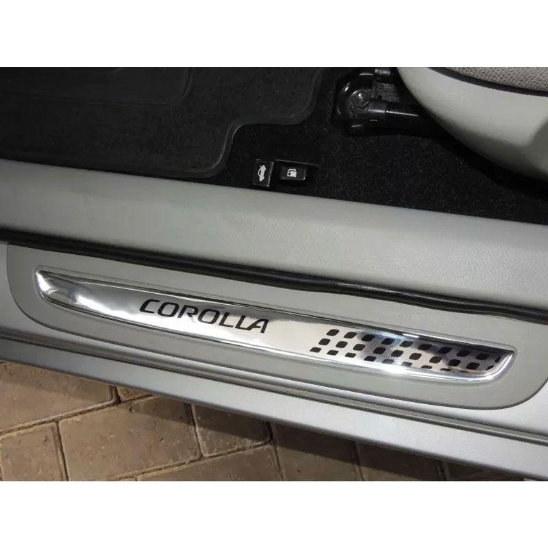 Soleira Resinada Corolla 2006/2013 Cromada Modelo Exclusivo