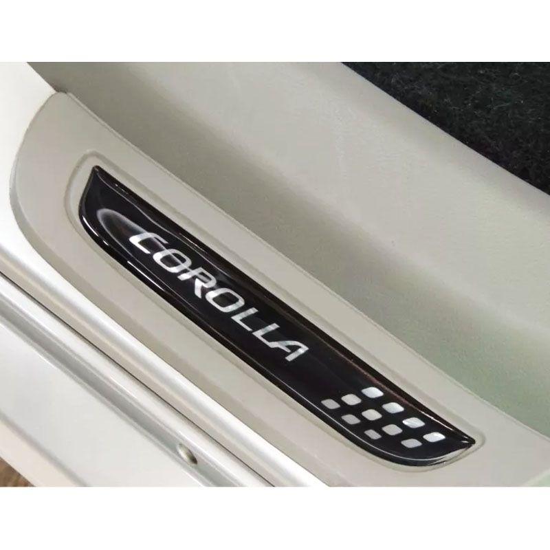Soleira Resinada Corolla 2006/2013 Modelo Exclusivo Preta