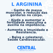 Arginina 500mg - 30 cápsulas