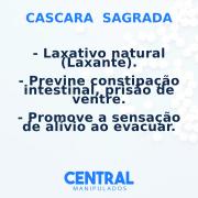 Cascara Sagrada 150mg - 60 cápsulas - Previne constipação intestinal, Laxativo