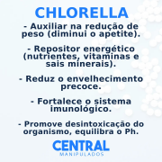 Chlorella 500mg - 120 Cápsulas - Auxílio no Gerenciamento do Peso, Reforço para Imunidade, Desintoxicação do Organismo (Efeito Detox)