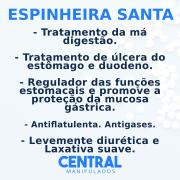 Espinheira Santa 500mg - 120 cápsulas - Cicatrizante, Antiácida, Levemente diurética, Laxativa suave