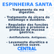 Espinheira Santa 500mg - 60 cápsulas - Cicatrizante, Antiácida, Levemente diurética, Laxativa suave