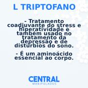L Triptofano 500 mg - 60 cápsulas - Auxílio no Tratamento de Ansiedade Leve