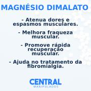 MAGNESIO DIMALATO 550MG 60 CÁPSULAS -  Melhora fraqueza muscular, dores e espasmos, rápida recuperação muscular, Coadjuvante na fibromialgia