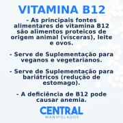 Vitamina B12 1mg - 30 Comprimidos Sublingual  (Tapiocaps)