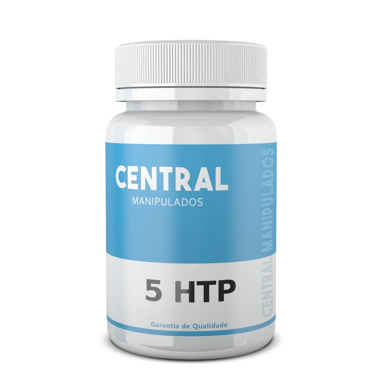 5 HTP 100mg - 60 cápsulas - Auxílio no Tratamento da Ansiedade