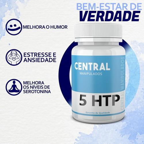 5 HTP 150mg - 120 cápsulas - Auxílio no Tratamento da Ansiedade