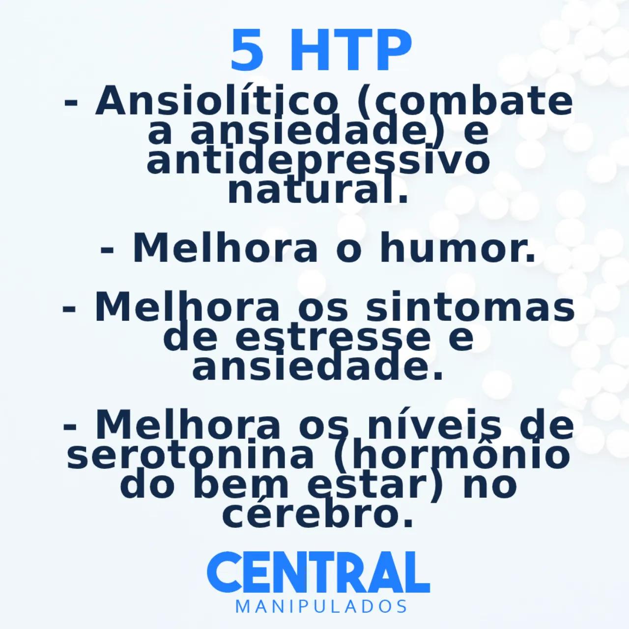 5 HTP 50mg - 60 cápsulas - Ansiolítico e antidepressivo natural