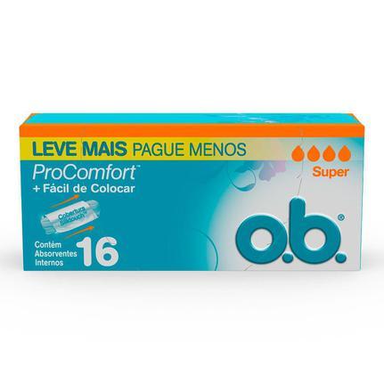 ABSORVENTE OB PRO COMFORT SUPER L16P-