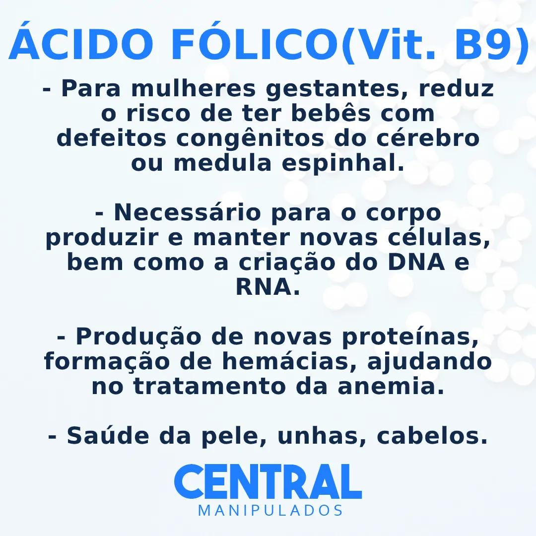Ácido Fólico 800mcg - 120 cápsulas - Vitamina B9