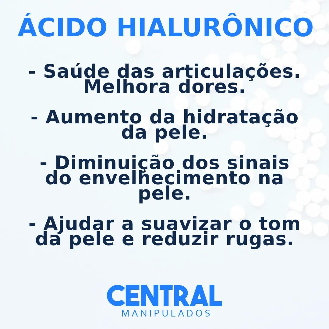 Ácido Hialurônico 100mg - 30 cápsulas - Saúde das articulações e da pele
