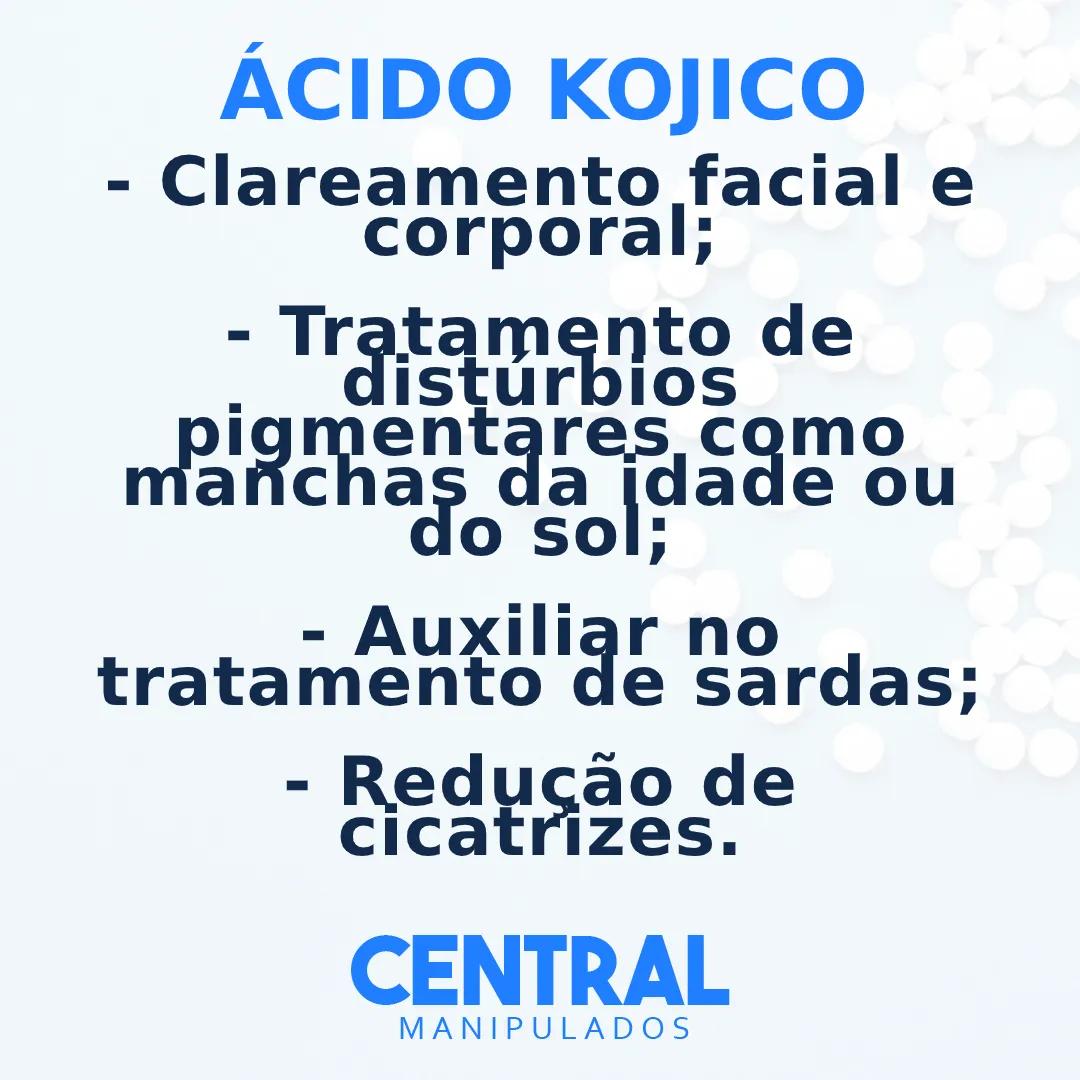 Ácido Kójico 4% 30g - Creme Clareador Facial e Corporal, Redução de cicatrizes.