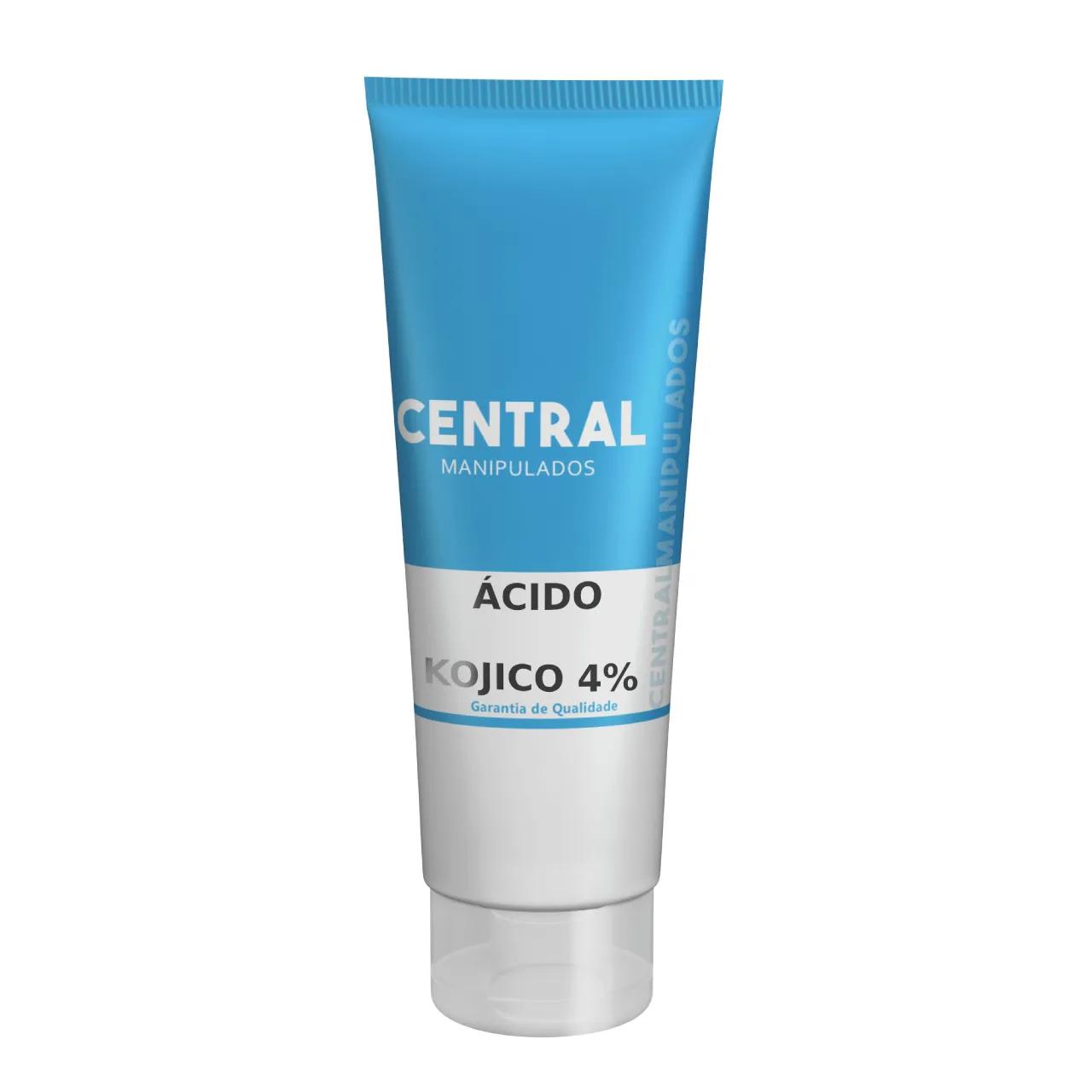 Ácido Kójico 4% 60g - Creme Clareador Facial e Corporal, Redução de cicatrizes.