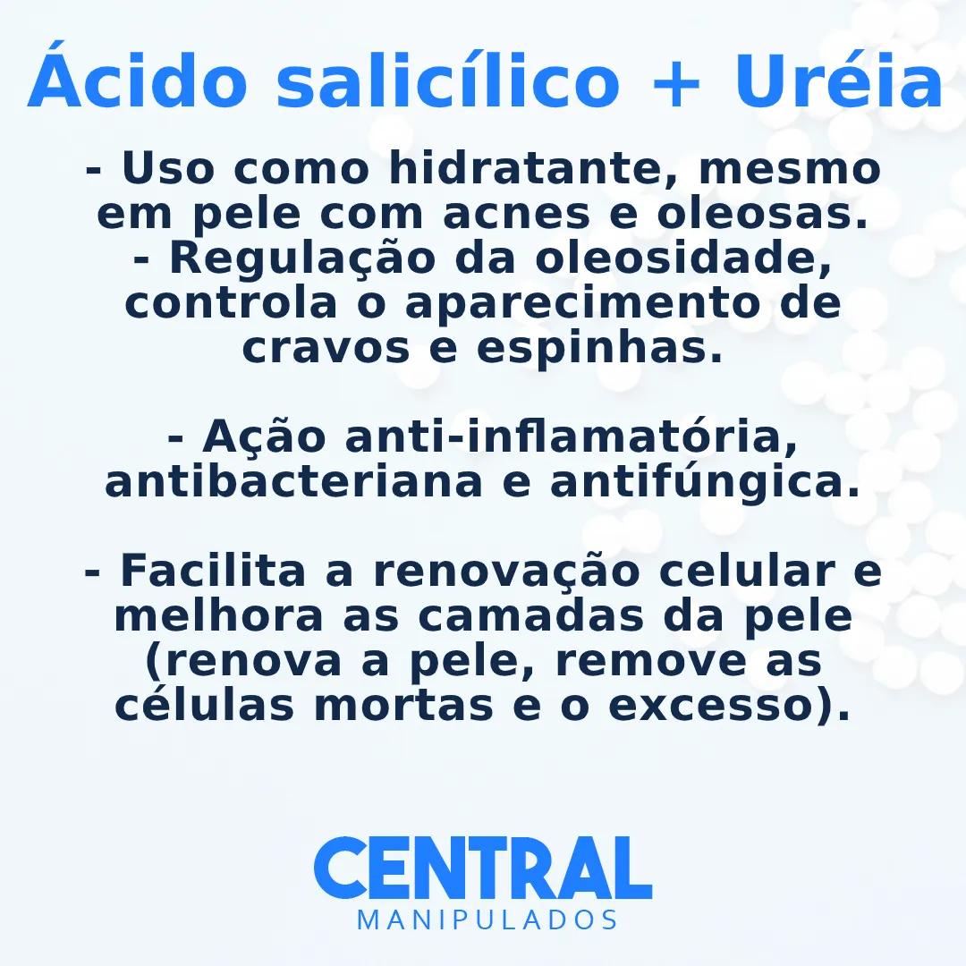 Ácido salicílico 3% com Uréia 10%  - Creme 500g - Renovação para a pele, previne rugas, espinhas, controla oleosidade