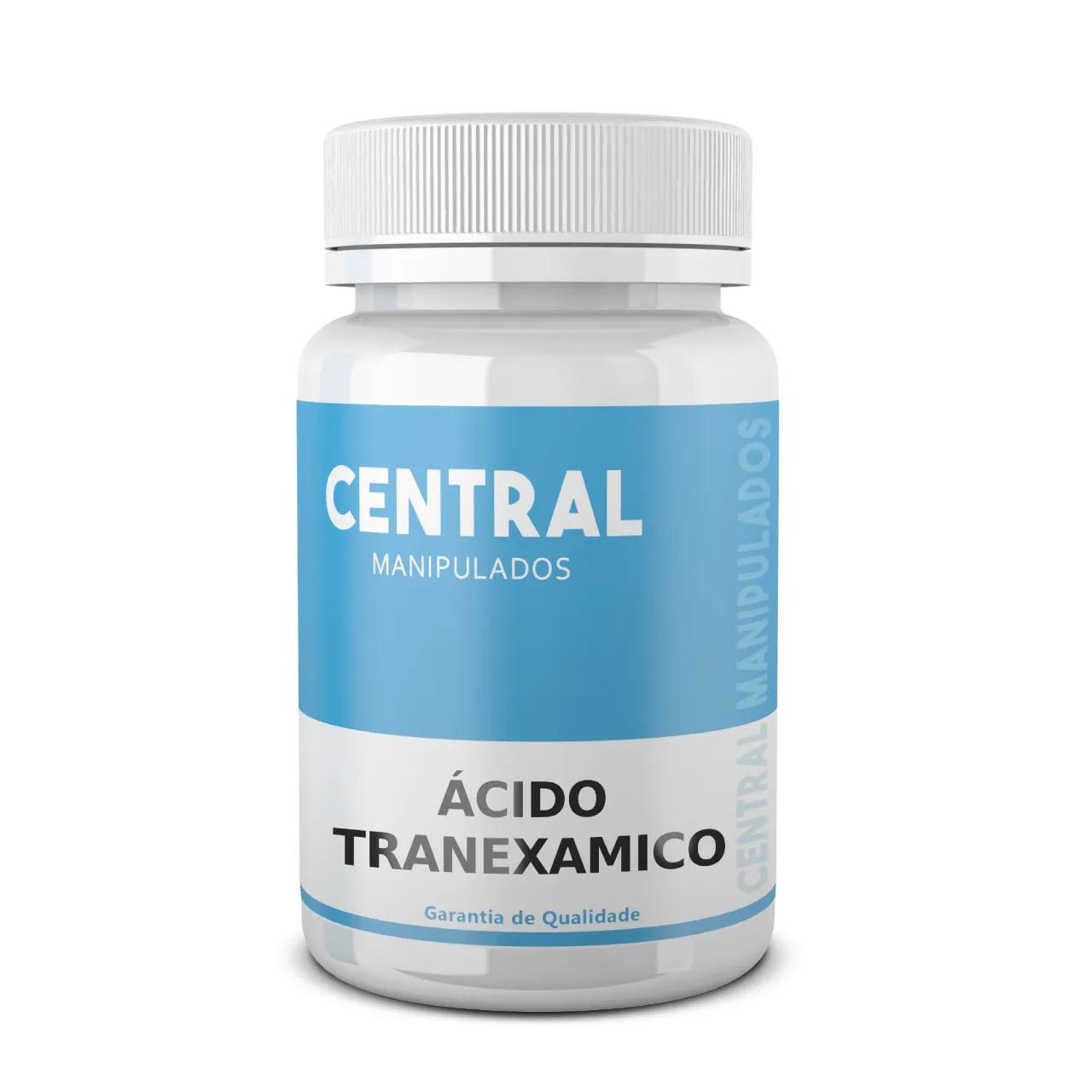 Ácido Tranexâmico 500mg - 30 Cápsulas - Remove manchas de pele, melasmas (manchas na pele)