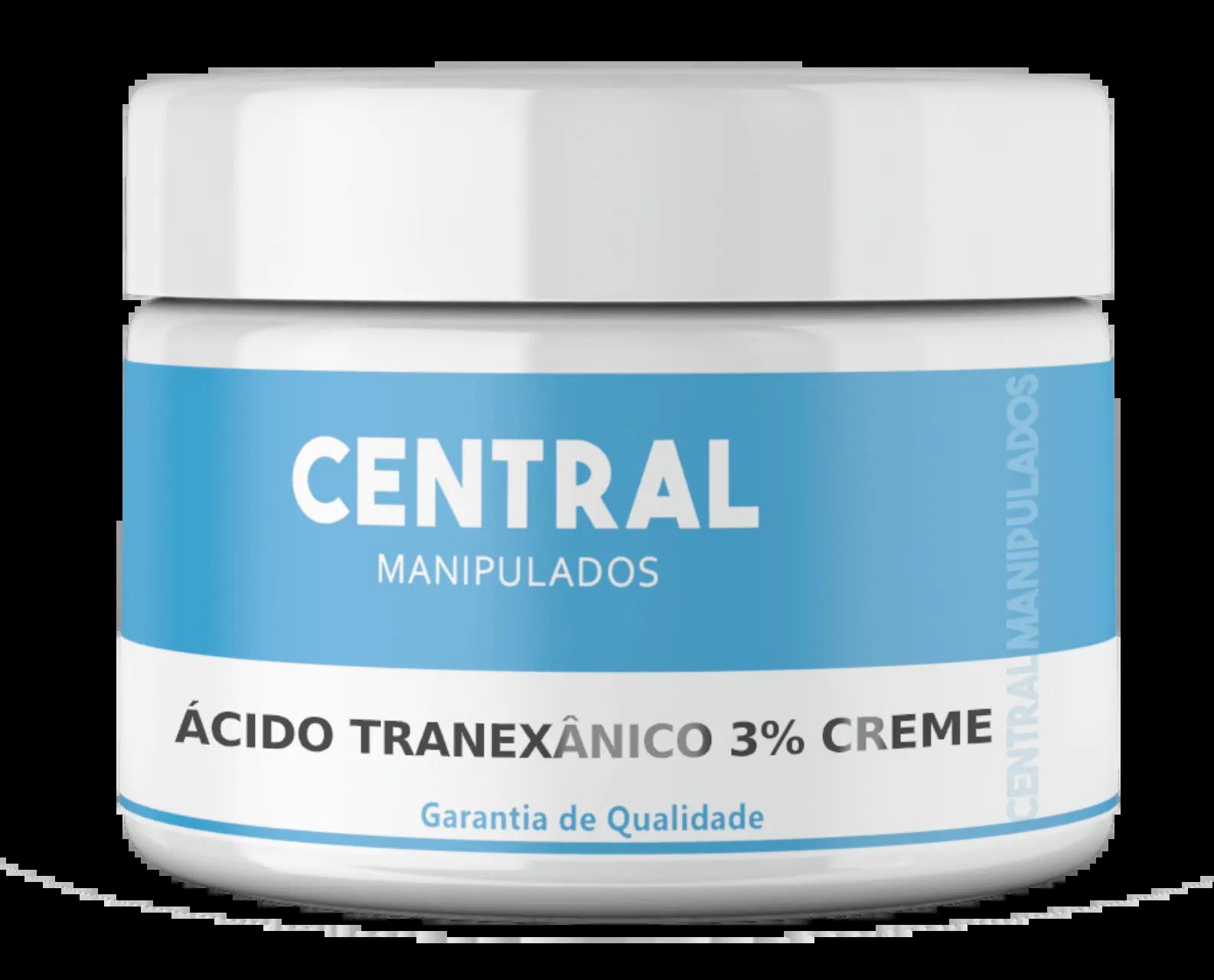 Ácido Tranexânico 3% - 100g Creme - Tratamento de melasmas (manchas na pele)