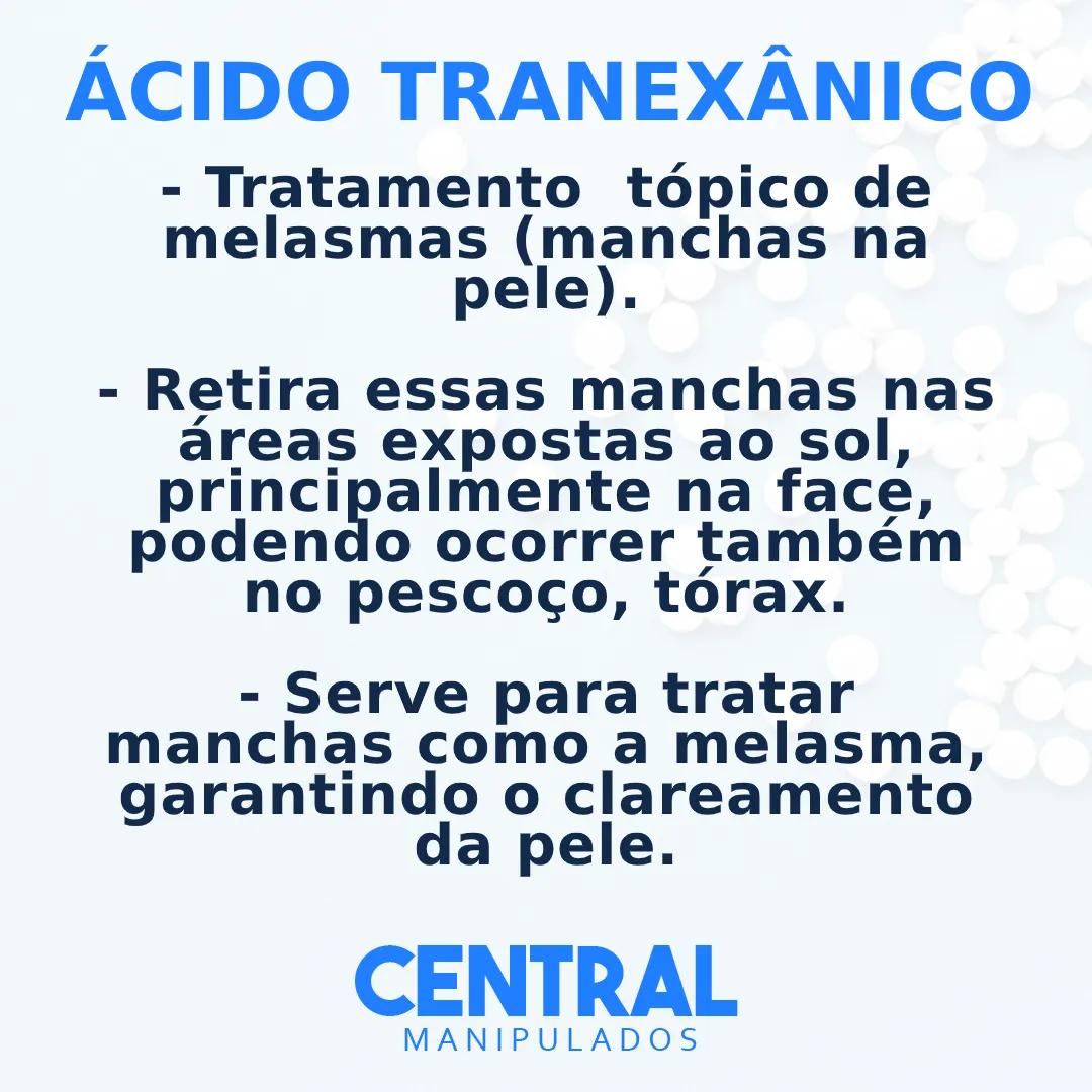 Ácido Tranexâmico 3% - 60g Creme - Remove manchas de pele, melasmas (manchas na pele)