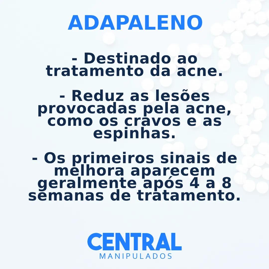 Adapaleno 0,1%  30g Creme - Para Acne, Cravos e as Espinhas