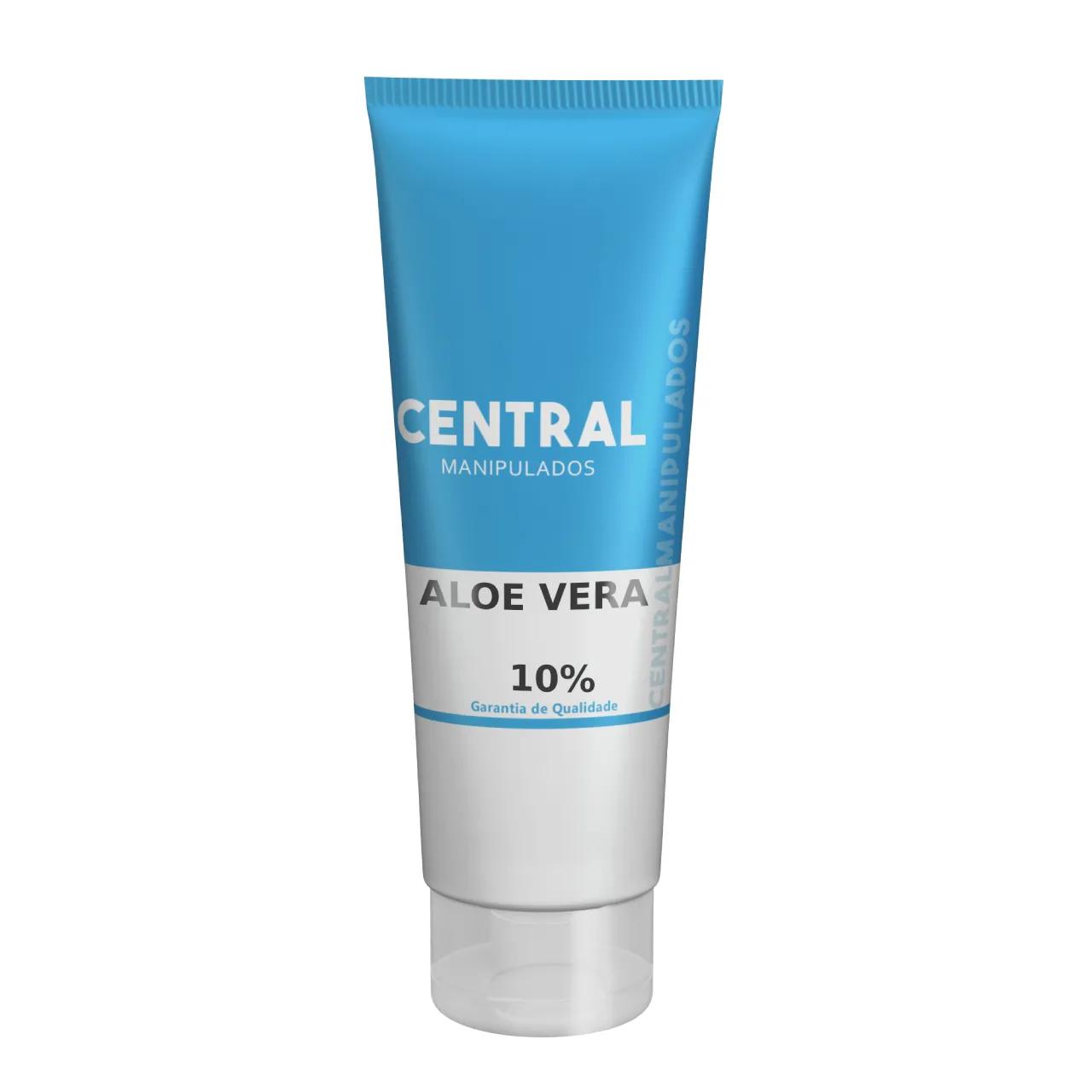 Aloe Vera 10% - Creme 60G -  Cicatrizante,  Tonificante,  Antiinflamatória, Refrescante, Protetora e Restauradora de Tecidos, Bom para Queimaduras