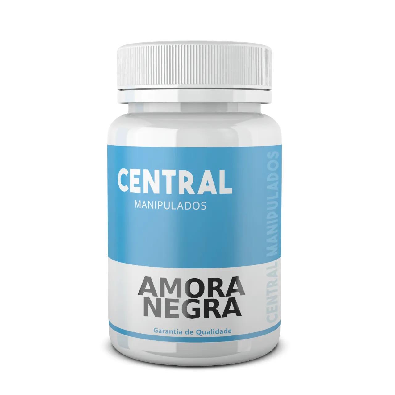 Amora Negra 500mg - 120 cápsulas - Antioxidante, Antiinflamatório, Diurético