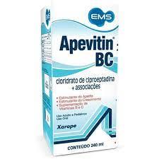 APEVITIN® BC XAROPE 240ML  - MULTIVITAMINICO E AUXILIO NO APETITE