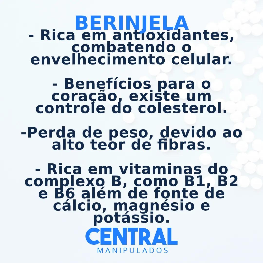 Berinjela 500mg - 180 Cápsulas - Rica em Fibras, Vitaminas e Agentes Antioxidantes