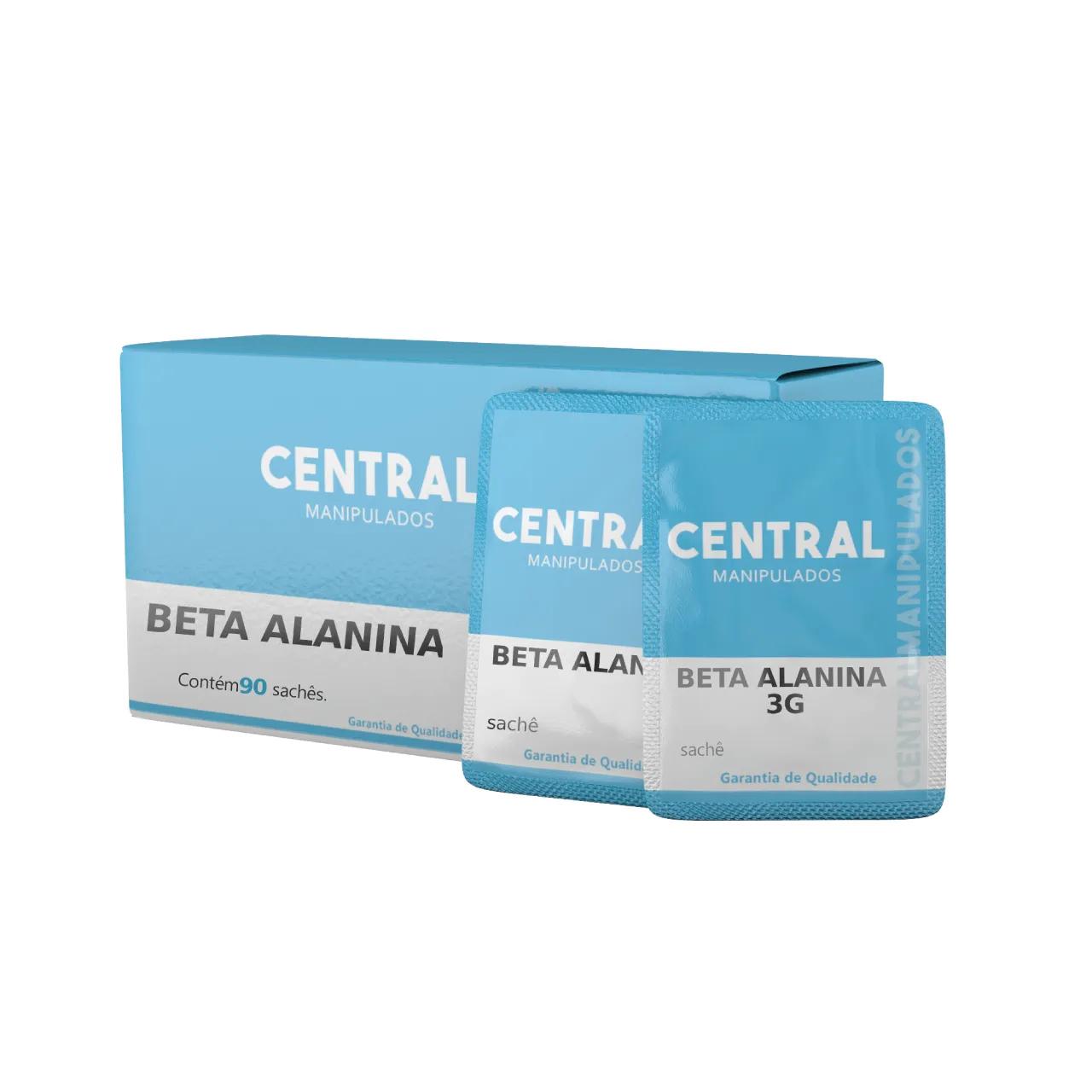 Beta-alanina 3g - 90 Sachês - Aumento da massa muscular, resistência aeróbica, força e resistência
