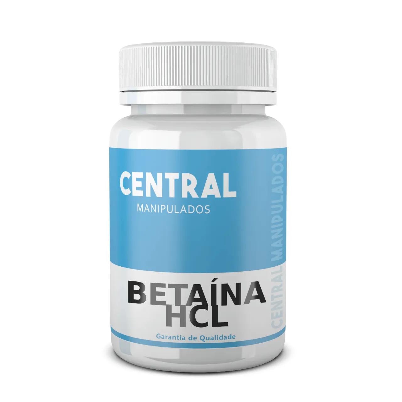 Betaína HCL 300mg - 120 cápsulas