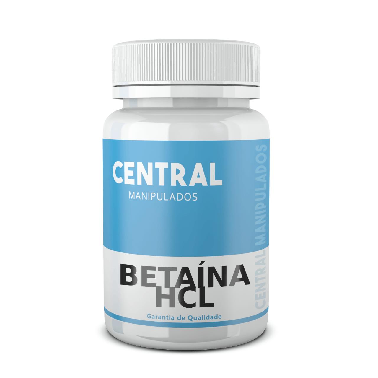 Betaína HCL 300mg - 60 cápsulas