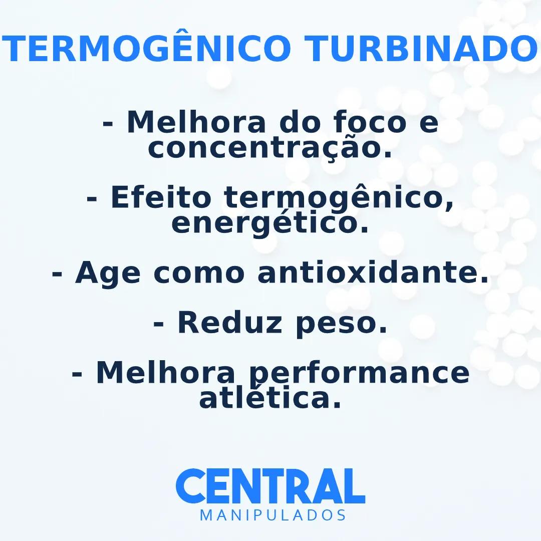 Cafeína 210mg + Taurina 200mg + Citrus Aurantium 100mg - 30 Cápsulas - Termogênico Turbinado