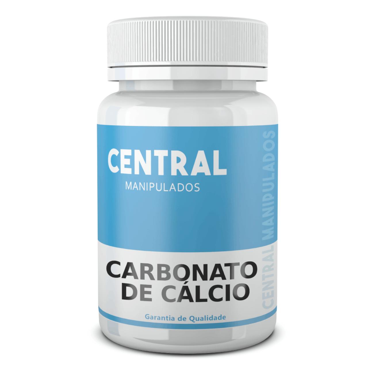 Carbonato de Cálcio 600mg - 120 cápsulas - Suplemento de Cálcio