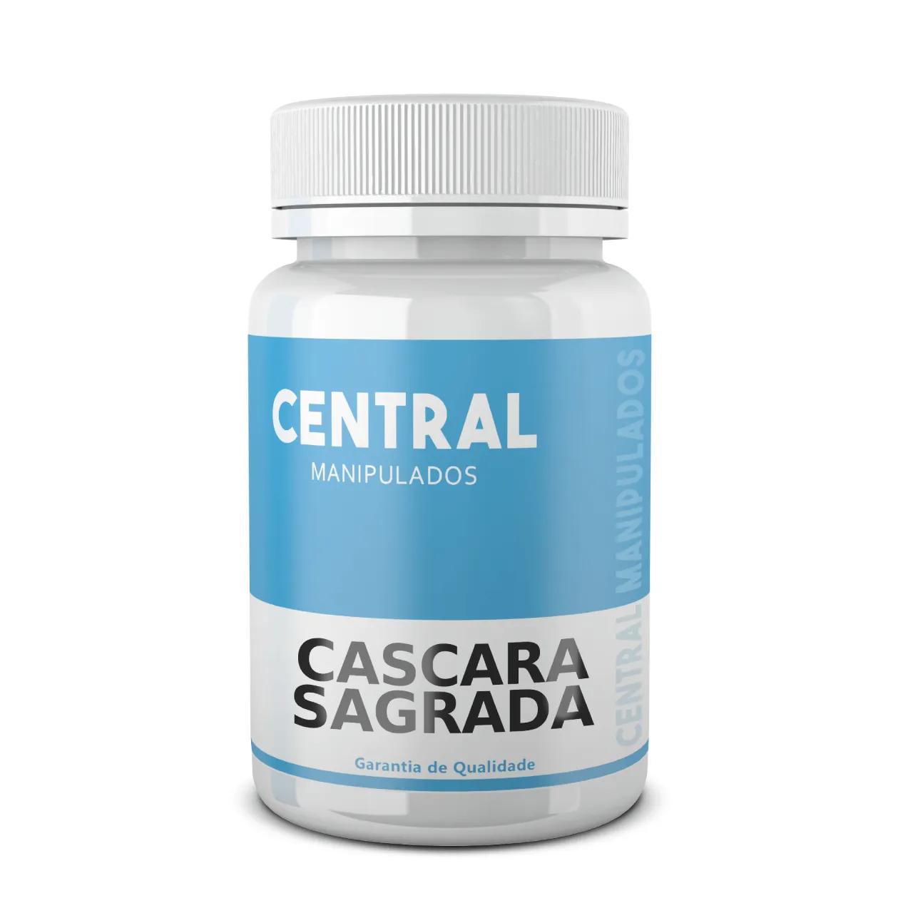 Cascara Sagrada 75mg - 60 cápsulas - Previne constipação intestinal, Laxativo