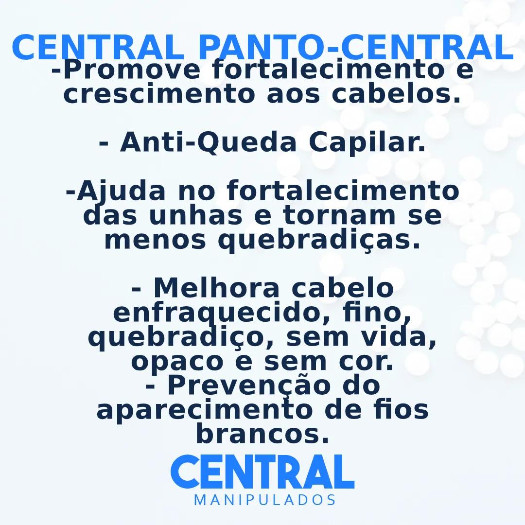 Central Pantocentral - 60 cápsulas - Anti-Queda e Saúde Capilar, Fortalecimentos das Unhas
