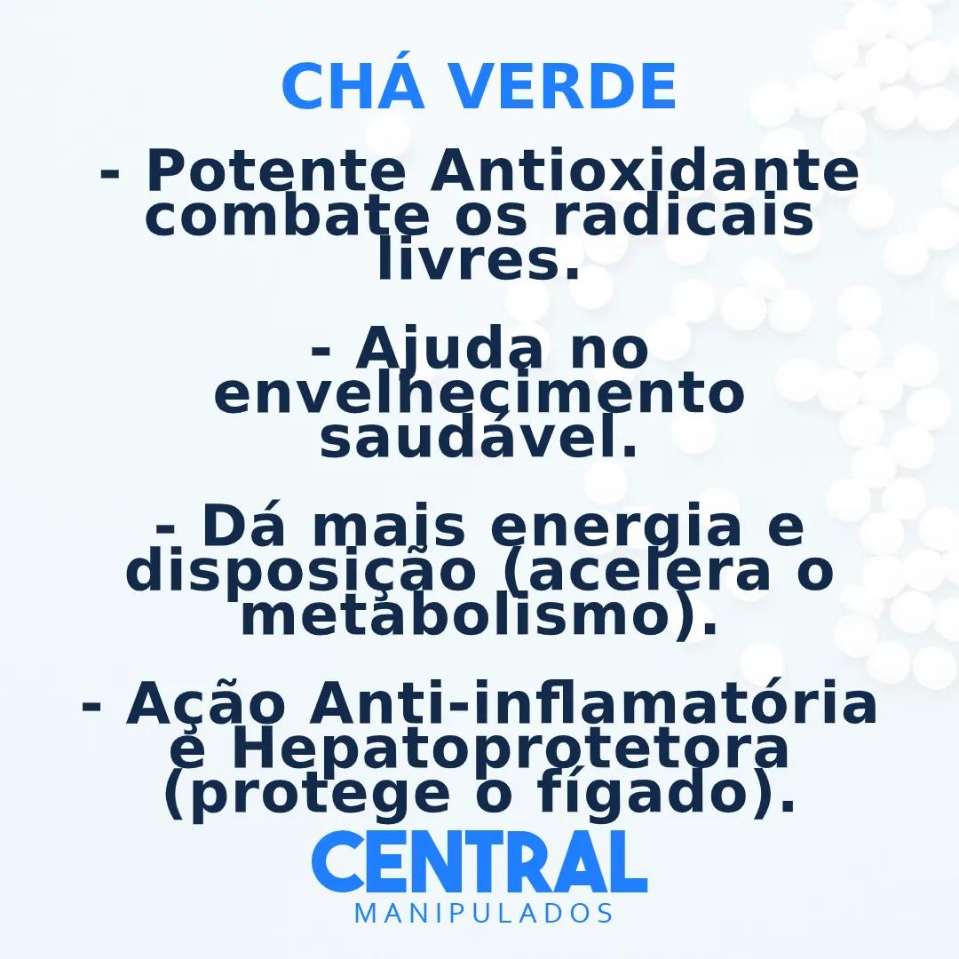 Chá verde 500mg - 60 cápsulas - Antioxidante, Antiinflamatória, Acelerador do Metabolismo