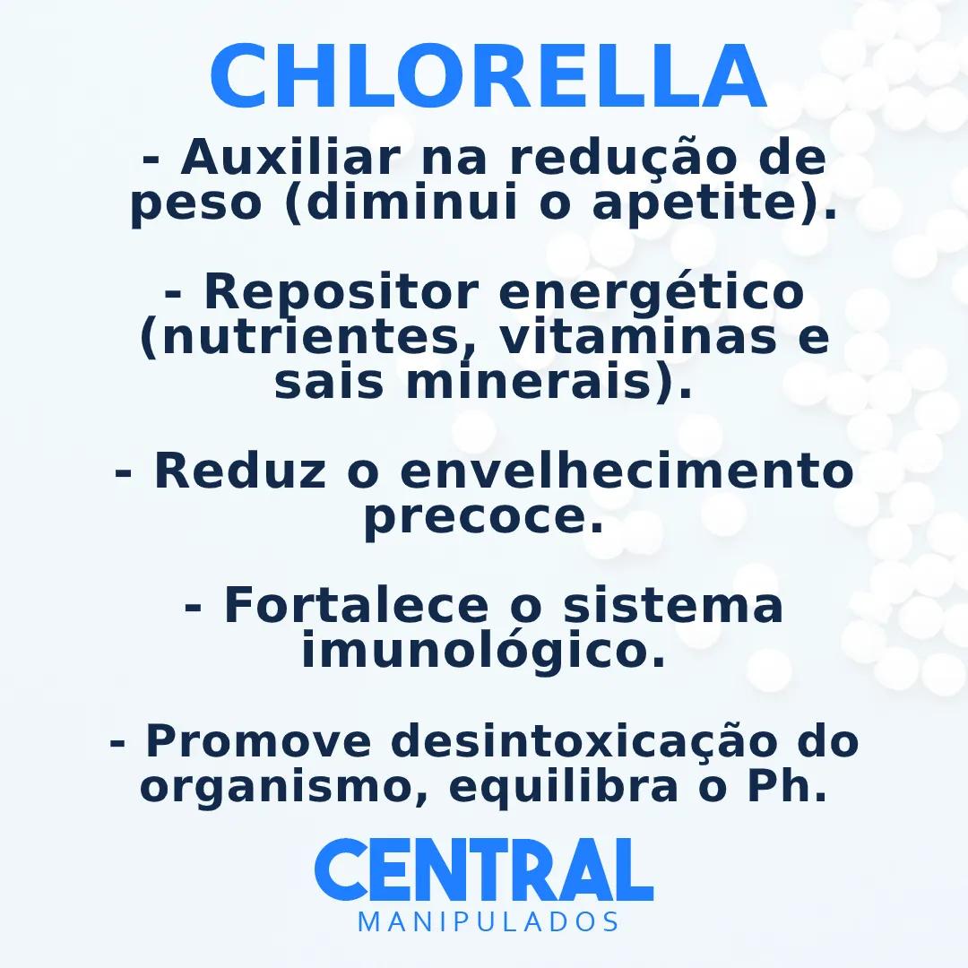 Chlorella 500mg - 60 Cápsulas - Auxílio no Gerenciamento do Peso, Reforço para Imunidade, Desintoxicação do Organismo (Efeito Detox)